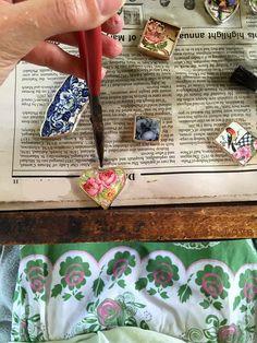 Dishfunctional Designs: Inside Of My Studio: Soldering Jewelry Outside (and my hydrangeas)
