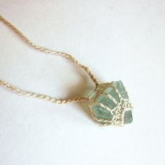 Amulet /// Fluorite -- what a cute way to wrap a crystal!!