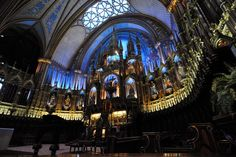 Notre Dame Basilica in Montreal Canada  #architecture #notre #dame #basilica #montreal #canada