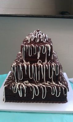 Brownie wedding cake...this would be Brandon's cake!