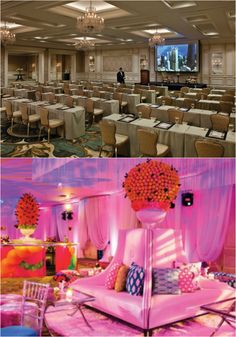 To spice up a reception, Four Seasons Hotel Chicago recreated the Grand Ballroom into a Latin themed experience. Meeting Venue, Evergreen Forest, Chicago Hotels, Function Room, Ballrooms, Four Seasons Hotel, Fine Dining, Spice Things Up, Reception