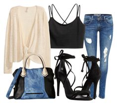 """""""#chic & sexy in jeans"""" by julia-alonso on Polyvore featuring Schutz and Steve Madden"""