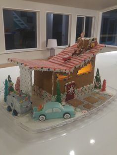 MID CENTURY GINGERBREAD HOUSE AND HOW TO MAKE ICICLES | Gingerbread ...