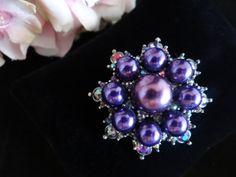 Vintage Purple Aurora Borealis Rhinestones and by SecondWindShop, $45.00