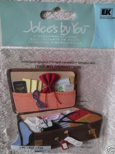 Jolees Boutique Luggage Dimensional Stickers New Craft Scrapbook