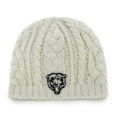 Chicago Bears Women's '47 Brand Shawnee Knit Hat by '47 Brand. $19.99. Cable knit pattern with metallic thread accents. 100% Acrylic. Embroidered team logo. '47 Brand Shawnee Knit Hat. Officially licensed. Clean, classic and understated, this Chicago Bears Women's '47 Brand Shawnee Knit Hat is an outstanding way for you to show off your hometown pride. Made by '47 Brand, this Bears knit hat has a woven cable knit pattern with metallic thread accents and a raised e...