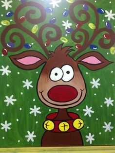 1000 images about canvas painting christmas on pinterest for Cute painting ideas for kids