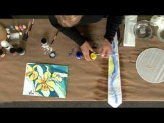 Jacquard Dye-Na-Flow Textile and Silk Paint - YouTube