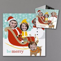 Merry Times Photo Holiday Cards http://partyblock.carlsoncraft.com/Holiday/Special-Shapes/YM-YM14571FC-Merry-Times--Photo-Holiday-Card.pro
