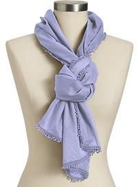 Old Navy lilac scarf.