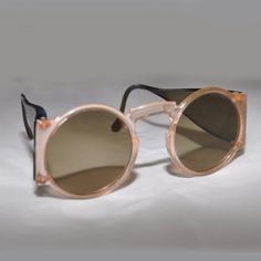 de9fd4b0b04b SOLD 1930 s Vintage Plastic Round Sunglasses