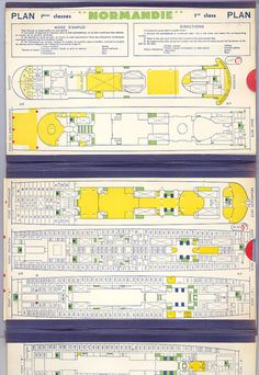 SS Normandie Deck Plans