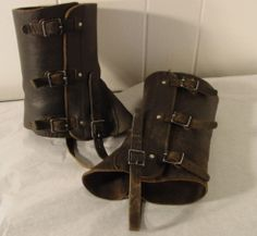 Leather spats.