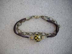 Chocolate Brown Leather Double Strand with by DesignsbyPattiLynn, $40.00