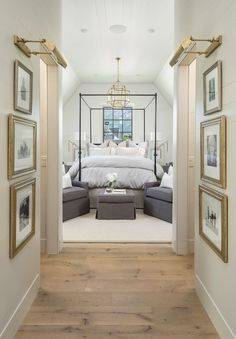 Beautiful bedroom and entry