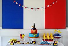 Madeline in Paris-themed Party - #kidsparty #desserttable