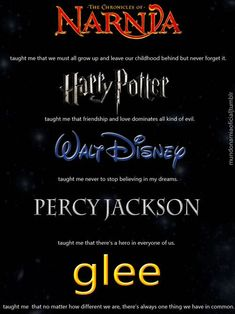 Narnia, Harry Potter, Disney and Percy Jackson. Oh my the feels are real the feels are real ! So true! Book Memes, Book Quotes, Percy Jackson, Jackson Life, Citations Film, Fandoms Unite, Film Serie, Book Fandoms, I Love Books