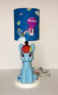 Personalized snow globe spongebob by gingerspicestudio on etsy my little pony lamp with lampshade aloadofball Choice Image