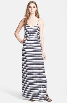 Splendid 'Marina' Eyelet Stripe Jersey Maxi Dress available at #Nordstrom