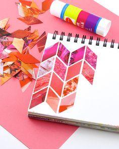 Omiyage Blogs: Make: Magazine Collage Patterns