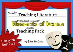 Elements of Drama Power Point Lesson Teaching Pack Lesson- Creative & Practical Elements Of Literature, Elements Of Drama, Teaching Packs, Teaching Science, Drama Terms, Drama Theater, Teaching Literature, 4th Grade Writing, Sketch Notes