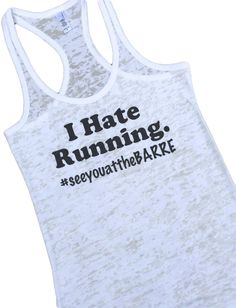 I Hate Running #seeyouattheBARRE Womens Barre Tank Top Workout Dance Shirt pink pure barre ballet by BloomStudioMarket on Etsy