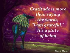 "Gratitude is more than saying the words, ""I am grateful."" It's a state of being. Abundant blessings x"