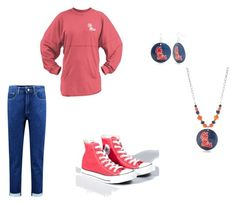 """OLE MISS REBEL!!!!!!"" by kiwi-999 ❤ liked on Polyvore featuring Boohoo, Converse, Accessory PLAYS, rebel, gameday, olemiss, number1 and rebelwin"