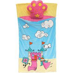 Kids' Fairy Land Plush Sleeping Bag with Pillow: Camping : Walmart.com