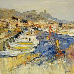 Jean Paul Surin - Le Port des Goudes - Marseille.