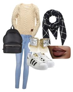 """""""Untitled #2"""" by sophiemily-1 on Polyvore featuring Ally Fashion, Superdry, adidas Originals, Hat Attack and Yves Saint Laurent"""