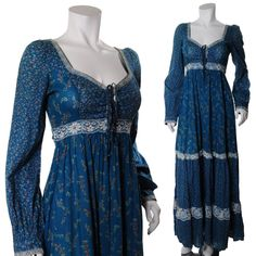 Previous Pinner: As a collector I am stunned by the sheer number of gunne sax designs. This is an ongoing project to. Stylish Dresses, Casual Dresses, Fashion Dresses, Vintage Dresses, Vintage Outfits, Vintage Fashion, Kurta Designs, Blouse Designs, Pakistani Dresses Casual