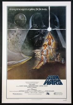The best Star Wars movie posters! This Star Wars 'A New Hope' poster is one of my favorites! The Star Wars movie poster artist Drew Struzan has worked on the Star Wars poster art and created some masterpieces! Star Wars Film, Star Wars Poster, Star Wars Episódio Iv, Star Wars Watch, Star Wars Art, Harrison Ford, Alec Guinness, Film Movie, Comedy Movies