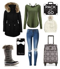 """""""Pack and Go"""" by caledonia2 ❤ liked on Polyvore featuring K100 Karrimor, WithChic, Vera Bradley, SOREL and Casetify"""