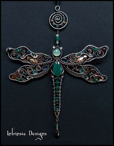 Multi Gemstone Dragonfly Suncatcher