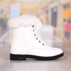 Ghete Dama Albe Imblanite cu Fermoar si Snur Cod: 2038DL Boots, Winter, Fashion, Crotch Boots, Winter Time, Moda, Fashion Styles, Shoe Boot, Fashion Illustrations
