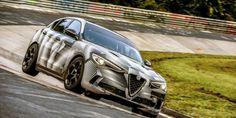 The Alfa Romeo Stelvio Quadrifoglio is now the fastest SUV around the Nürburgring, beating the Porsche Cayenne Turbo S. Bmw M4, New Luxury Cars, Auburn Hills, Green Toys, Alfa Romeo Giulia, Turbo S, Automotive News, Digital Trends, Latest Cars