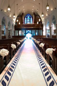 Personalizing an aisle runner with the names of your guests is a special way to show them your appreciation.