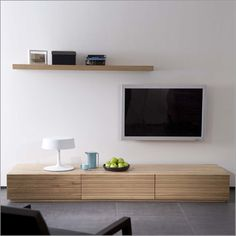 ethos oak stonecut low tv unit, solid oak, 2 drawers, 1 pulldown    dimensions:  w:2100 d:500 h:270mm    free delivery usually within 8 to 10 weeks    £1,111