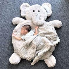 Baby Christmas Gift Cartoon Animal Elephant Baby Super Soft Playmat