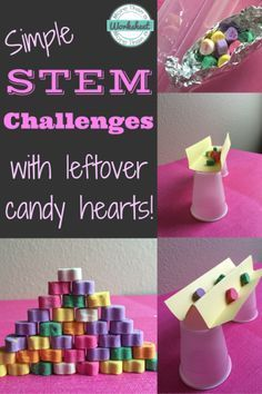 Candy Heart STEM Challenges - Valentine's Day STEM Fun | STEM Activities for Kids