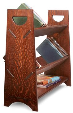 DIY Your Own Bookcase with These Free Plans: Portable Book Rack Plan from Start Woodworking