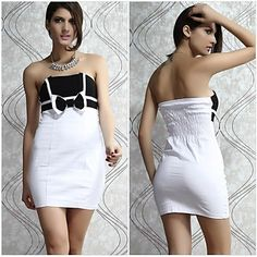 Women's Bodycon Bowknot Backless Sexy Wrap Evening Dress