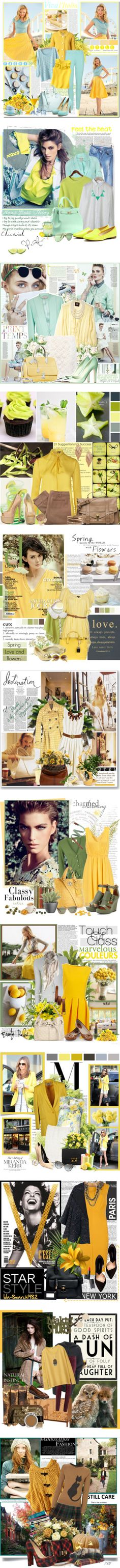 """""""All Yellow"""" by ciao-27 ❤ liked on Polyvore"""