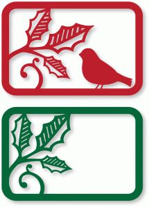 Silhouette Design Store - View Design #70609: holly & bird cards