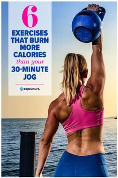 6 Exercises That Burn More Calories Than Your Jog. Variety is key, so here are six alternatives to your standard jog that will help you mix it up during the week… and you may even burn a few more calories, too. Fat Burning Cardio Workout, Butt Workout, Fitness Tips, Health Fitness, Women's Health, Health Tips, Cardio Challenge, At Home Workouts, Fun Workouts