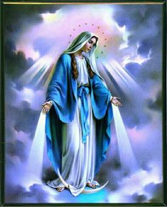 Alegrate María llena de gracia el Seńor está contigo y bendita tu eresentre todas las mujeres y bendito es el fruto de tu vientre Jesús.