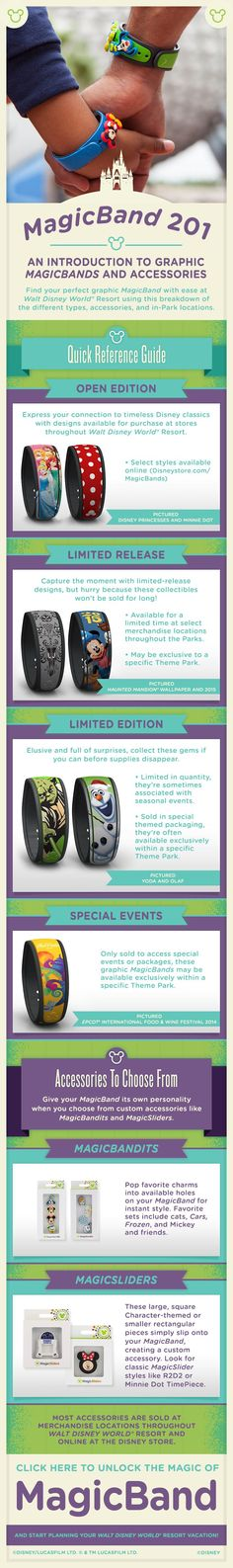 Find the perfect graphic MagicBand for your Walt Disney World vacation and customize your MagicBand with its own personality with accessories like MagicBandits and MagicSliders. Most accessories are sold at merchandise locations throughout Walt Disney World Resort and online at the Disney Store.