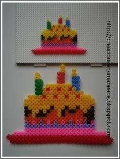 sandylandya@outlook.es Cake pastel de Creaciones Hama Beads