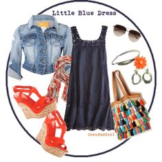 Little Blue Dress, created by cornfedgirl on Polyvore